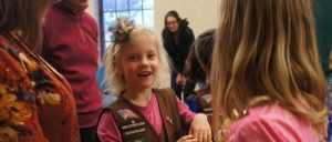Girl Scout Troop #2593 gives children's care packages to refugees