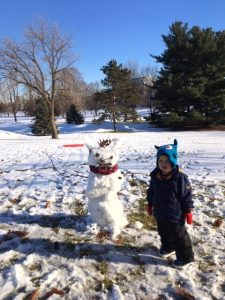 Yousef with Snowman
