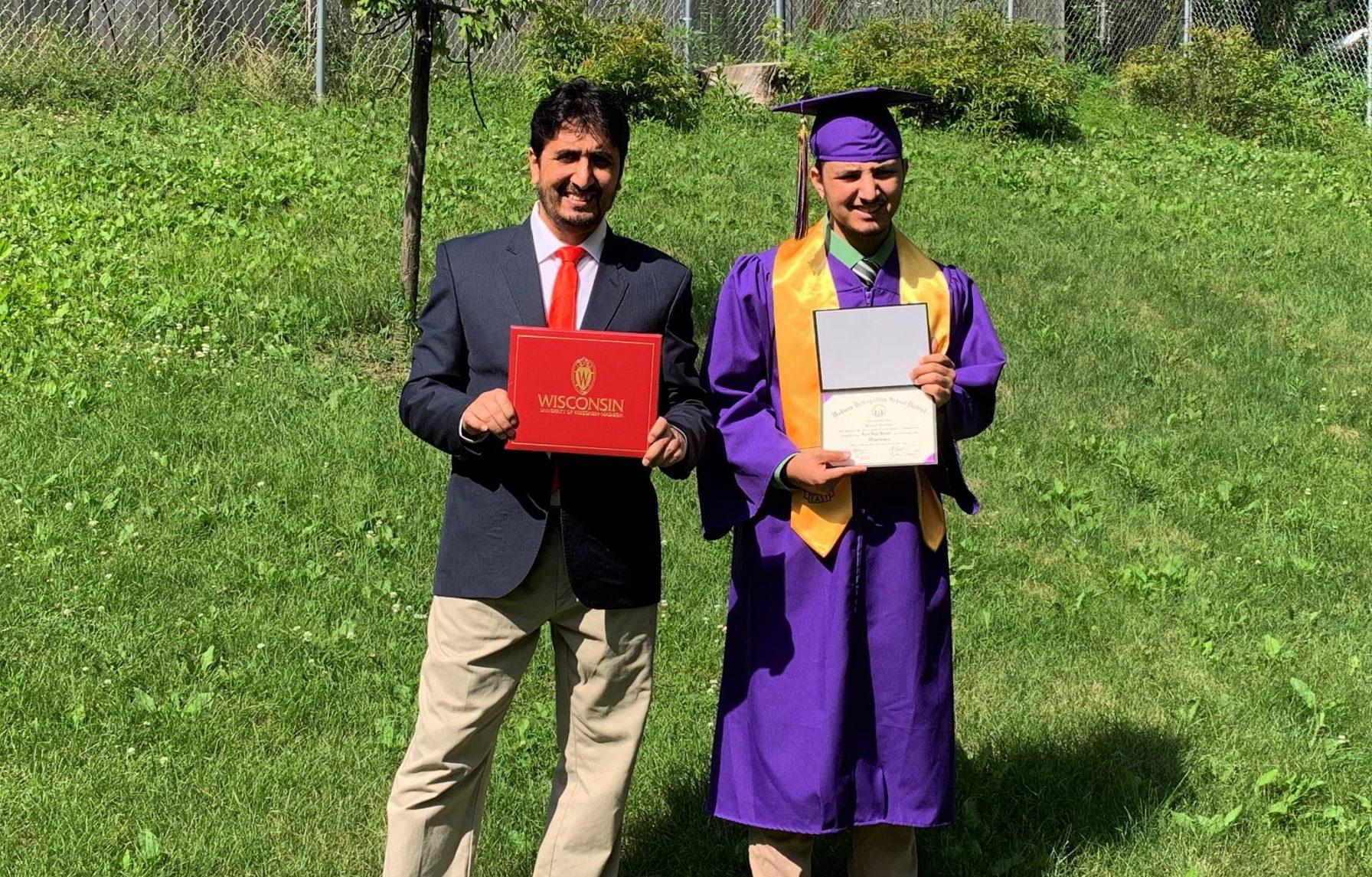 Abdullah Mustafa and Son Graduation